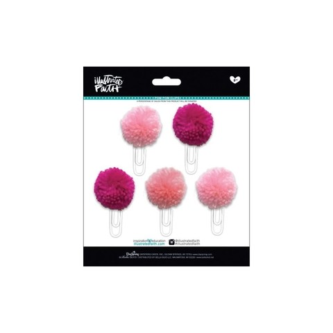 Clips con Pompones Fucsia Bless Her Heart Illustrated Faith - comprar online