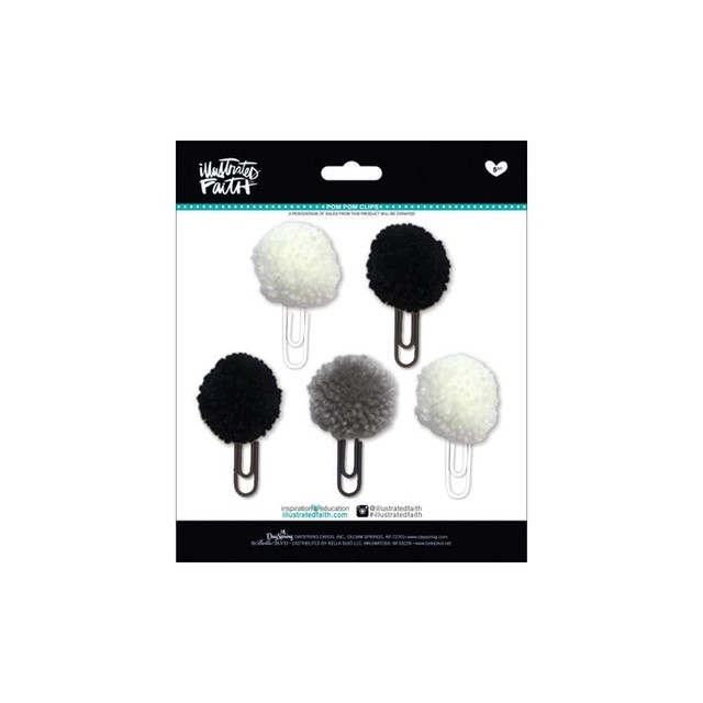 Clips con Pompones Negros Bless Her Heart Illustrated Faith - comprar online