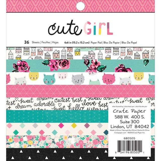 Block Papel Para Scrap 15 x 15 Cute Girl Crate Paper - comprar online