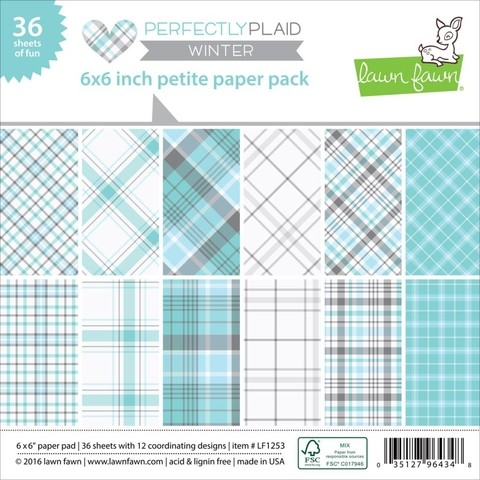 Block Papel Para Scrap 15 x 15 Perfectly Plaid Winter Lawn Fawn - comprar online