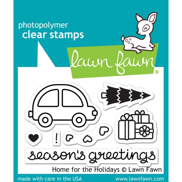 Sellos Home For The Hollidays Clear Stamp Lawn Fawn - comprar online