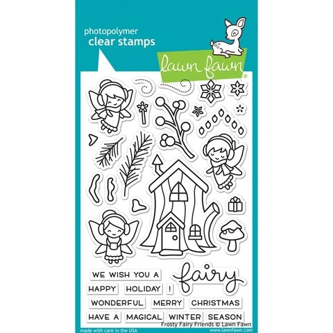 Kit de Sellos y troqueles Frosty Fairy Friends Lawn Fawn