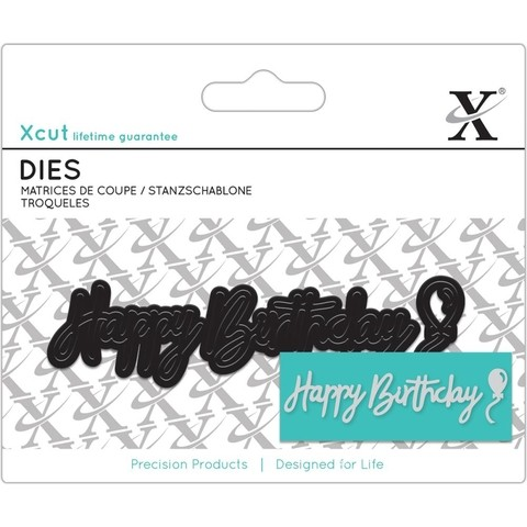 Troqueladora Happy Birthday Sentiment Xcut - comprar online