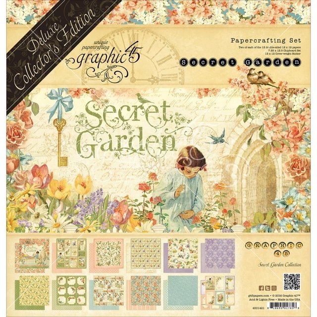 Block Papel Texturizado Para Scrap Secret Garden 30 x 30 Graphic 45 - comprar online