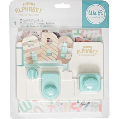 Tablero Creador de Letras Mini Alphabet Punch Board We R Memory Keepers