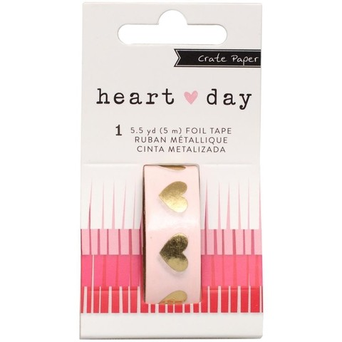 Cinta Decorativa Washi Tape Corazones Dorados Heart Day - comprar online