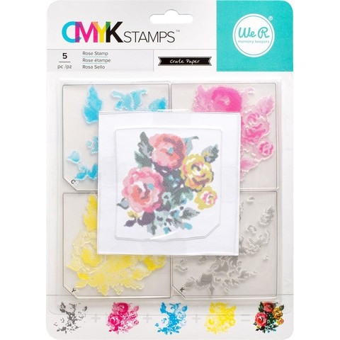 Sello Acrílico CMYK Rose WE R MEMORY KEEPERS