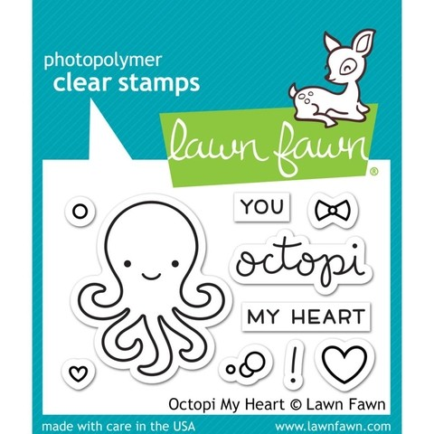 Sellos Octopi My Heart Clear Stamp Lawn Fawn - comprar online