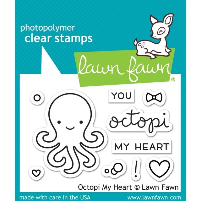 Sellos Octopi My Heart Clear Stamp Lawn Fawn 7,6 cm x 5 cm - comprar online