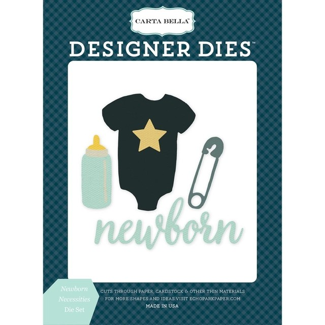 Kit de troqueles Rock-A-Bye; Newborn Necessities Carta Bella