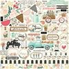 Plancha de Stickers de 30 x 30 cm Flower Market Carta Bella