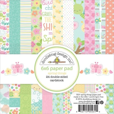 Block Papel Para Scrap 15 x 15 Spring Things Doodlebug Design