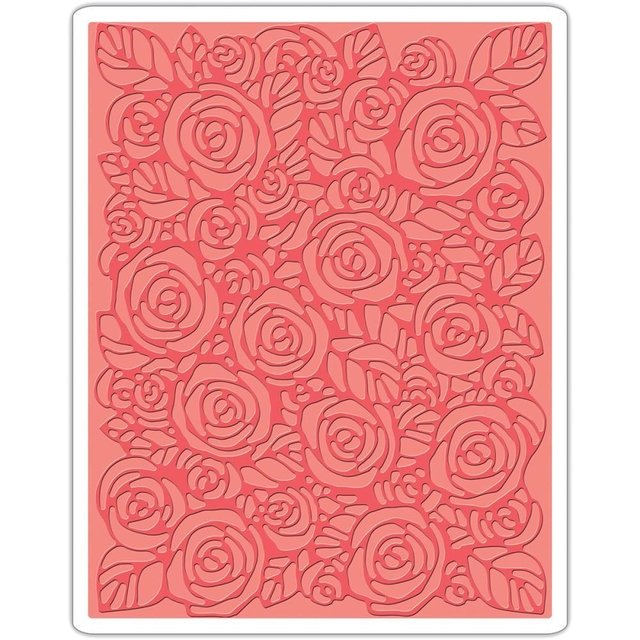 Carpeta Texturizadora Embossing Sizzix Roses By Tim Holtz - comprar online