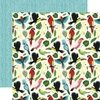 Papel bi-faz Birds Of Paradise Animal Safari 30,5 x 30,5 cm Carta Bella