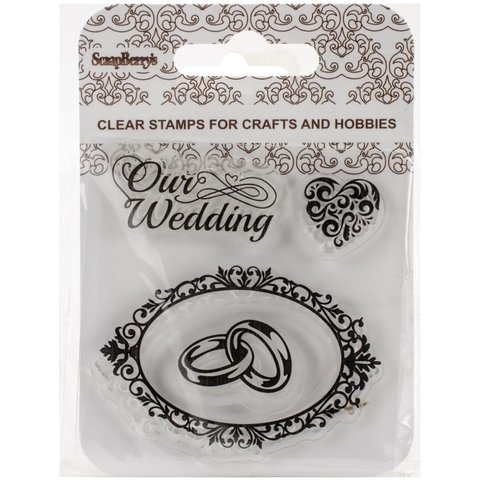 Sellos Our Wedding Clear Stamp Scrapberrys - comprar online