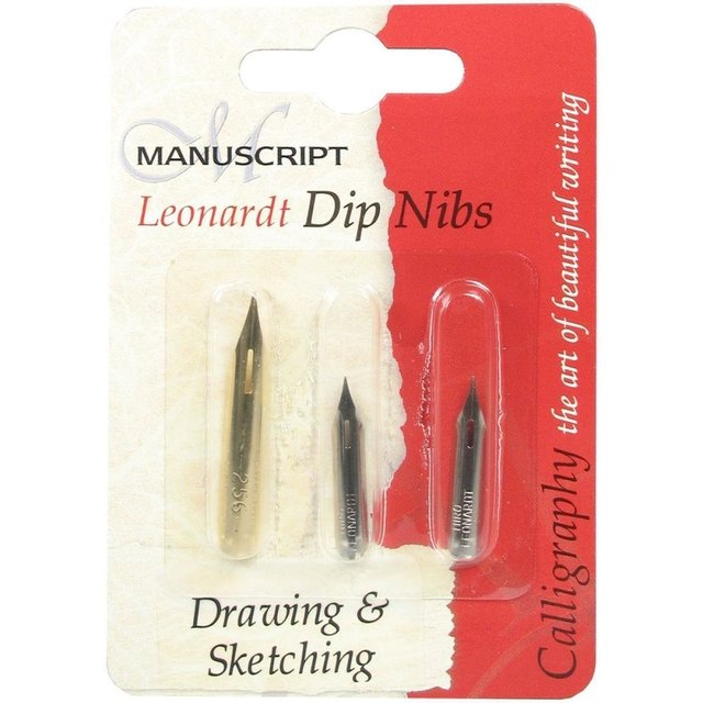 SET DE 3 PLUMAS para dibujo Drawing & Sketching MANUSCRIPT