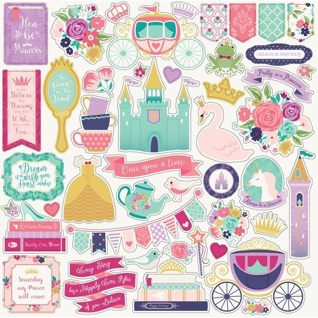 Plancha de stickers Once Upon a Time Element Echo Park Paper - comprar online
