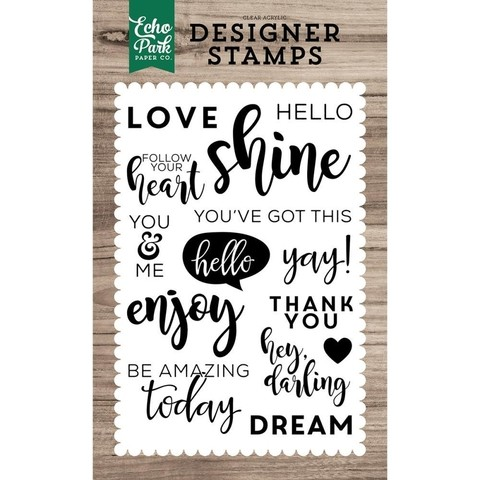 Sellos You've Got This Clear Stamp Echo Park Paper - comprar online