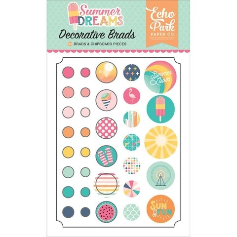 Brads Broches Summer Dreams Echo Park Paper - comprar online