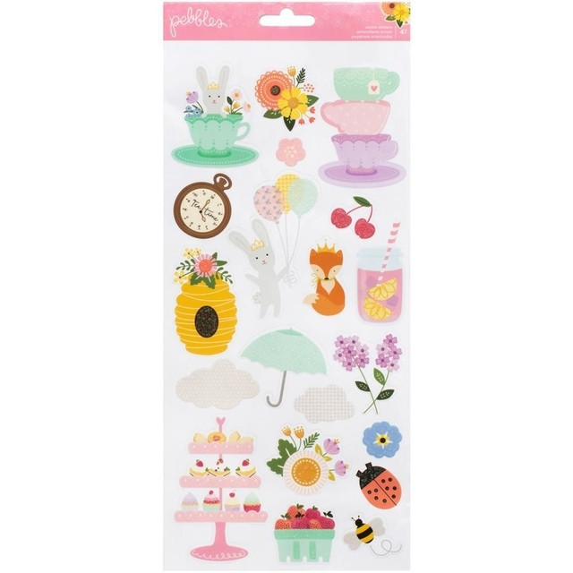 Plancha de stickers con glitter Tealightful Icons & Accents Pebbles - comprar online