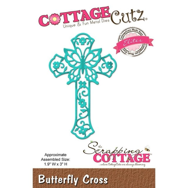 Troqueladora Cruz de Filigrana Butterfly Cross Cottage Cutz - comprar online