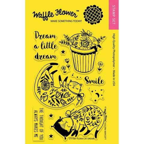 Kit de Sellos Flora Cat Dream Clear Stamp Waffle Flower - comprar online