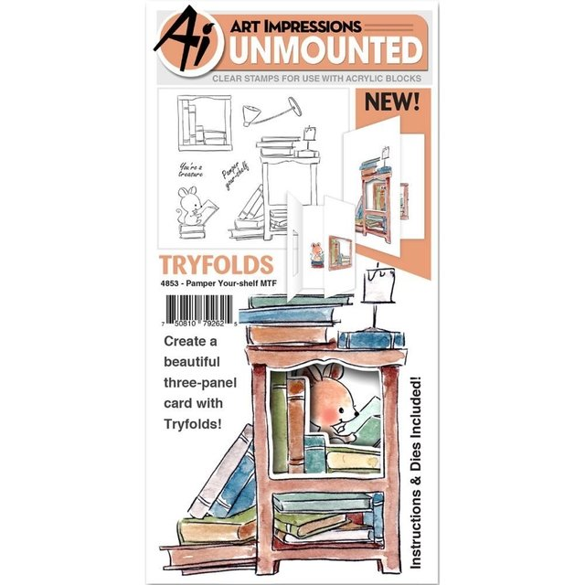 Sello 3D Pamper your-shelf Clear Stamp Art Impressions - comprar online