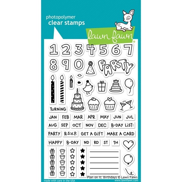 Sellos Plan On It: Birthday Clear Stamp Lawn Fawn - comprar online