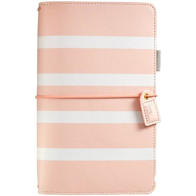 Journal Color Blush Stripe Planner Webster Pages - comprar online