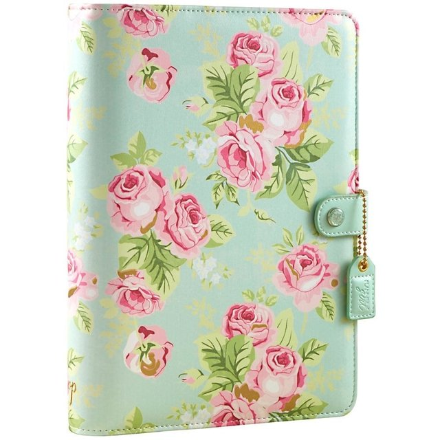 Tapa para Planner 25,4 cm x 19,05 cm Color Mint Floral Webster Pages - comprar online