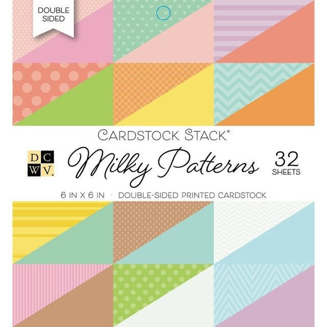 Block Papel 32 hojas  Para Scrap 15x15 DCWV Milky Patterns - comprar online