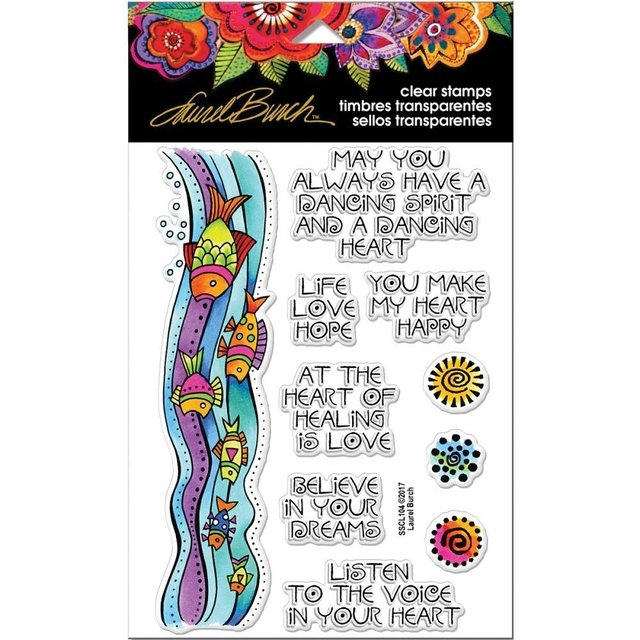 Sellos Fish Wishings Stampendous - comprar online