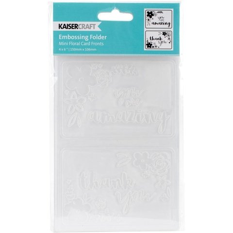 Carpeta Texturizadora Embossing Mini Floral Card Fronts Kaisercraft