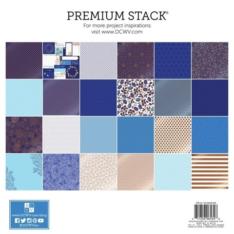 Block Cartulinas 36 hojas Para Scrap 30x30 DCWV Copper Blues en internet