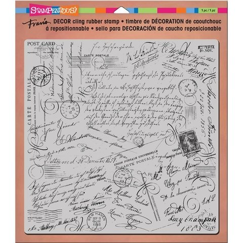 Sello Script Cling Stamp Stampendous