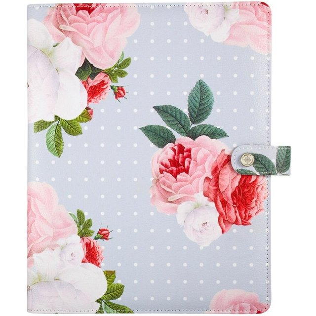 Funda para Agenda atemporal Color Gray Floral Planner Webster Pages