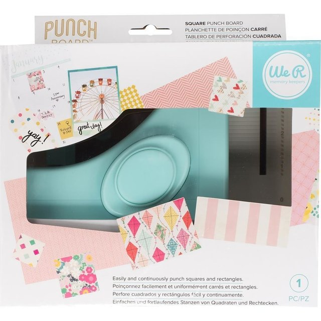 Tablero Creador de Cuadrados Square Punch Board We R Memory Keepers - comprar online