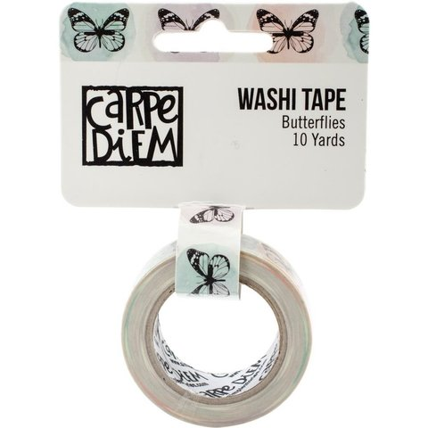Cinta Decorativa Washi Tape Butterflies Carpe Diem