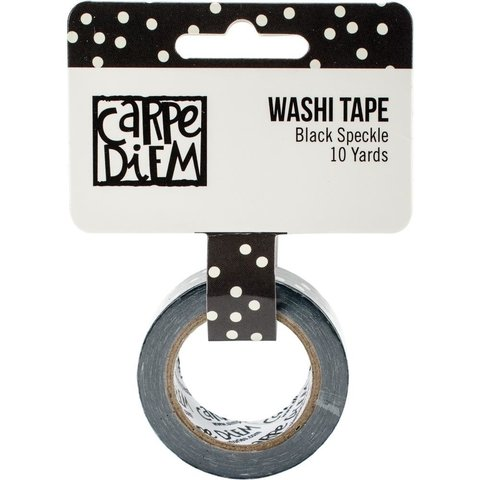 Cinta Decorativa Washi Tape Black Speckle Carpe Diem