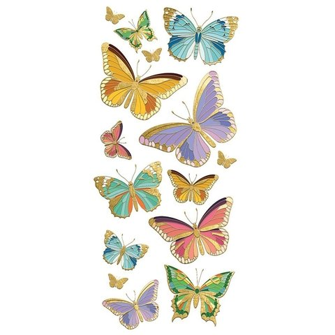 Plancha de Stickers Mariposas Butterflies Paper House