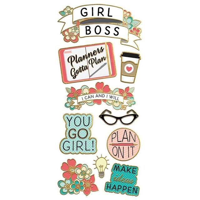 Plancha de Stickers Girl Power Paper House