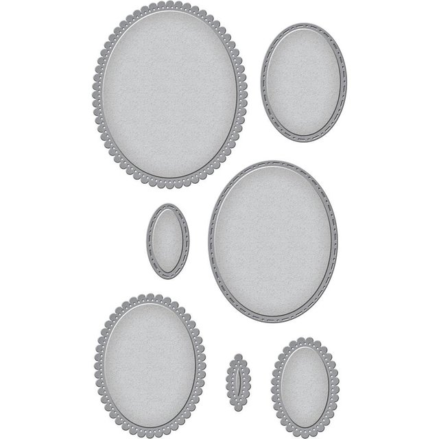 Set de Troqueladoras Fancy Edged Ovals Spellbinders