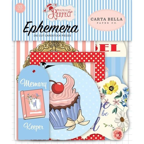 Conjunto de Etiquetas de papel Practically Perfect Carta Bella