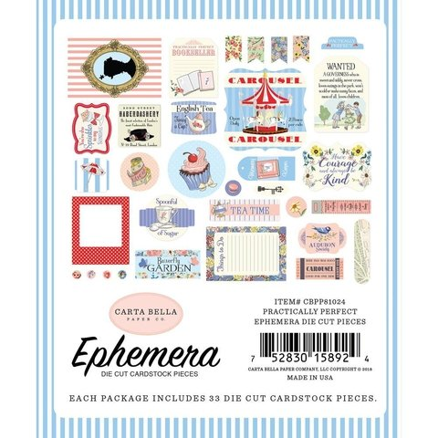 Conjunto de Etiquetas de papel Practically Perfect Carta Bella - comprar online