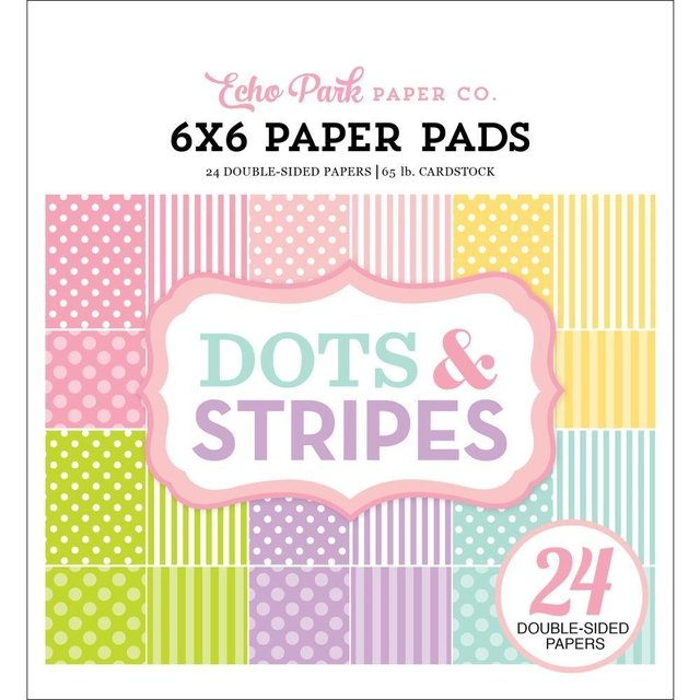 Block Papel Para Scrap 15 x 15 Spring Dots & Stripes Echo Park Paper
