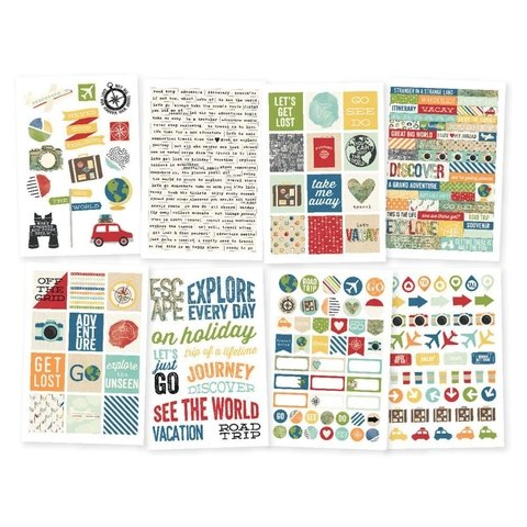 Stickers Travel Notes Simple Stories - comprar online