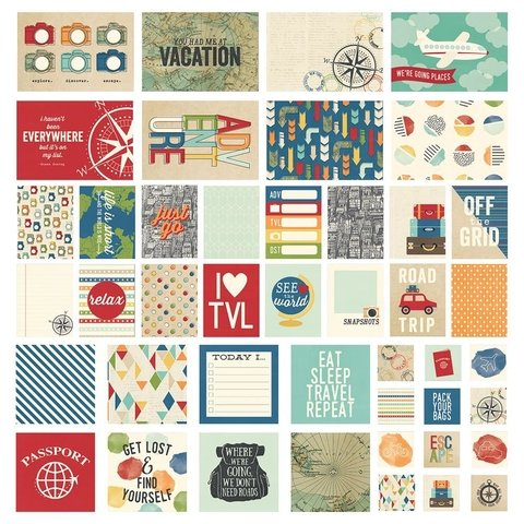 KIT DE 48 TARJETAS PARA PROJECT LIFE Travel Notes Sn@p! Card Pack
