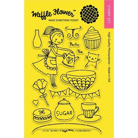 Kit de Sellos Tea Party Clear Stamp Waffle Flower - comprar online