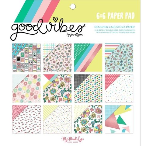 Block Papel Para Scrap 15 x 15 Good Vibes My Minds Eye