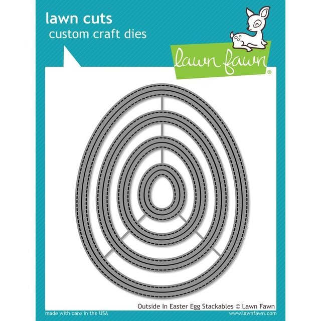 Kit de 4 troqueles Lawn Fawn Outside In Easter Egg Stackables - comprar online